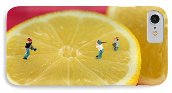 Playing Baseball On Lemon IPhone Case by Paul Ge
