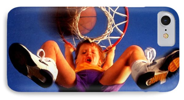 Playing Basketball Phone Case by Lanjee Chee