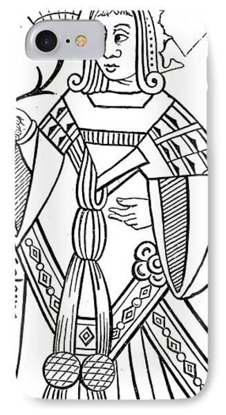 Playing Card, 16th Century IPhone Case by Granger