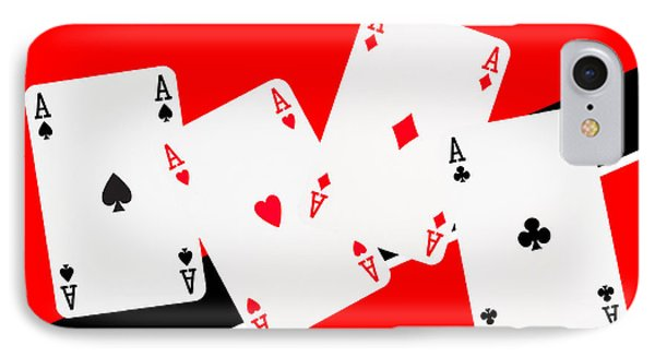 Playing Cards Aces Phone Case by Natalie Kinnear