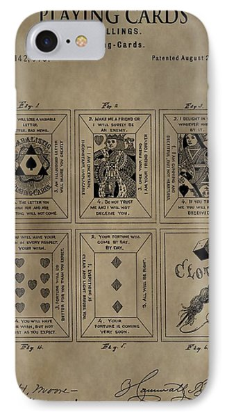 Playing Cards Patent IPhone Case by Dan Sproul