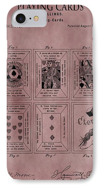 Playing Cards Patent Red IPhone Case by Dan Sproul