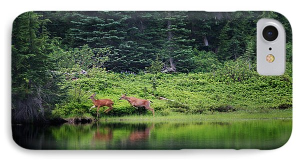 Playing In The Wild IPhone Case by Deena Otterstetter