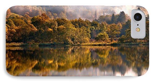 Playing Mirror. Loch Achray. Scotland Phone Case by Jenny Rainbow