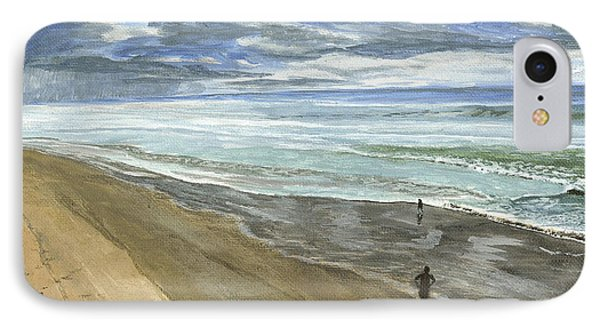 IPhone Case featuring the painting Playing On The Oregon Coast by Ian Donley