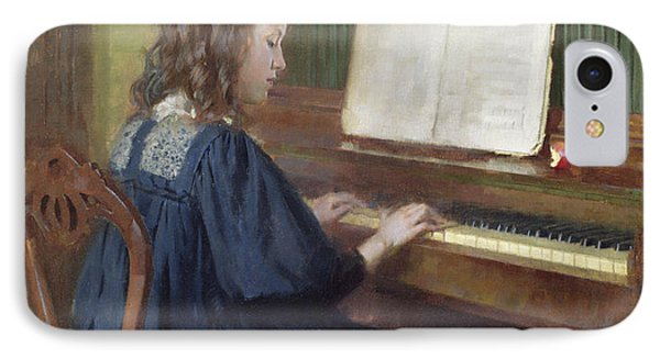 Playing The Piano IPhone Case
