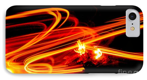Playing With Fire 4 IPhone Case by Cheryl McClure