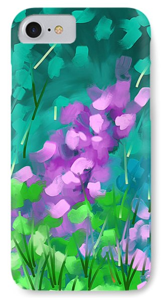 IPhone Case featuring the painting Playing With Flowers by Steven Lebron Langston