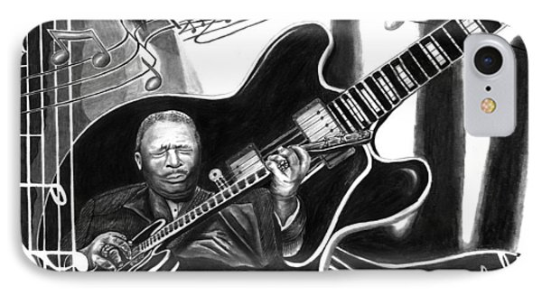 Playing With Lucille - Bb King IPhone Case by Peter Piatt