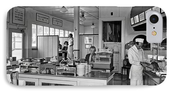 Playland Restaurant Interior IPhone Case by Underwood Archives