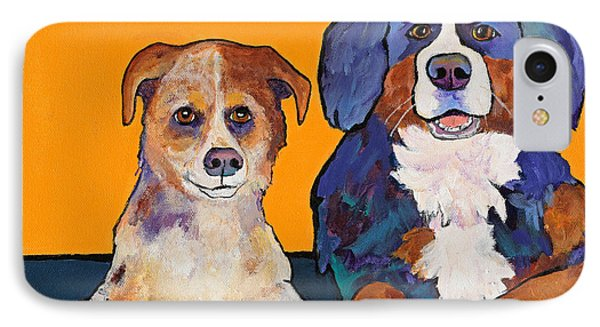 Playmates IPhone Case by Pat Saunders-White