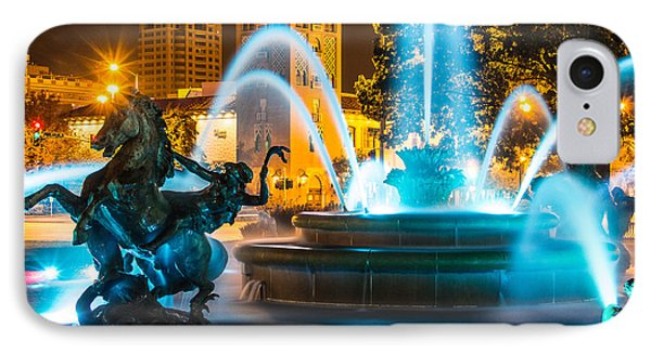 Plaza Blue Fountain IPhone Case