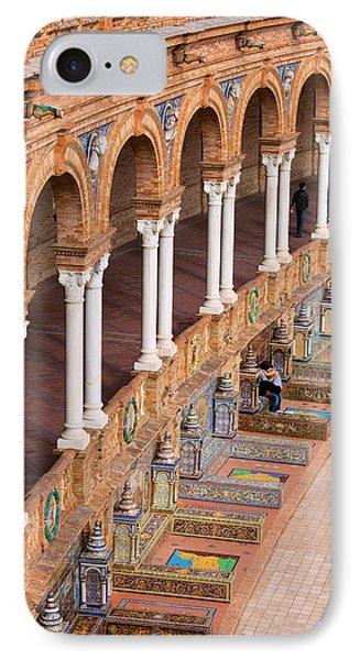 Plaza De Espana Colonnade In Seville Phone Case by Artur Bogacki