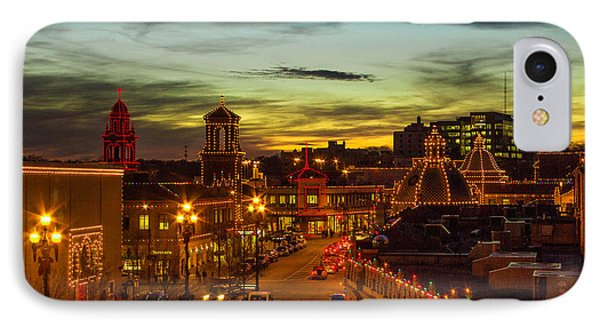 Plaza Lights At Sunset IPhone Case