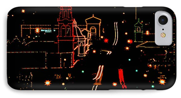 Plaza Lights 1978 IPhone Case by Thomas Bomstad