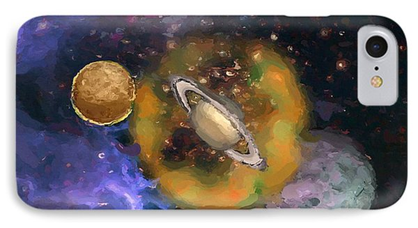 IPhone Case featuring the painting Plazu Galaxy by Wayne Pascall