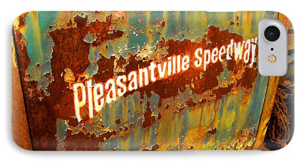 IPhone Case featuring the digital art Pleasantville Speedway by K Scott Teeters