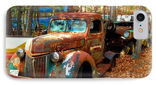 Pleasantville Speedway Tow Truck IPhone Case by K Scott Teeters