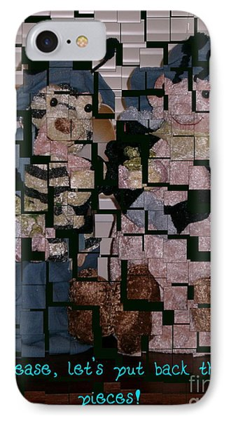 IPhone Case featuring the photograph Please Lets Put Back The Pieces by Joyce Gebauer