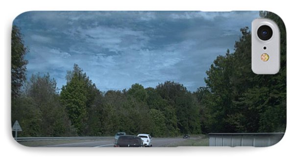 Pleasure Drive Paris Roads Tree Line And Wonderful Skyview IPhone Case