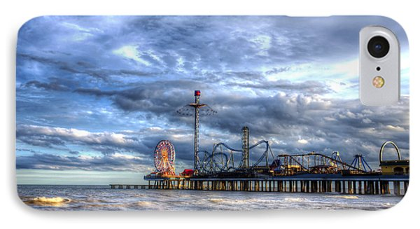 IPhone Case featuring the photograph Pleasure Pier Galveston by Shawn Everhart