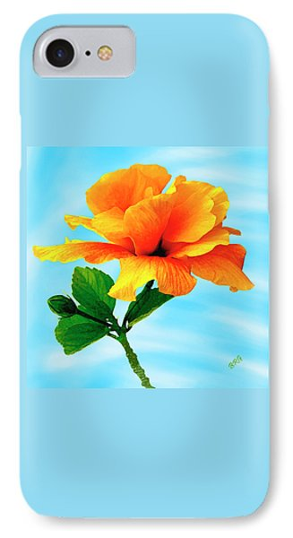 Pleasure - Yellow Double Hibiscus Phone Case by Ben and Raisa Gertsberg