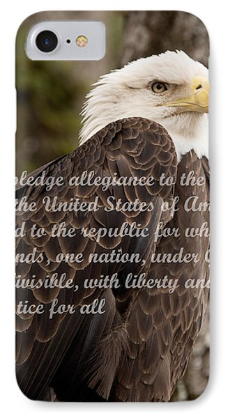 Pledge Of Allegiance IPhone Case by John Black