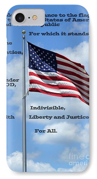 Pledge Of Allegiance IPhone Case by Paul  Wilford