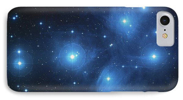 Pleiades - Star System IPhone Case by Absinthe Art By Michelle LeAnn Scott