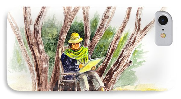 Plein Air Artist At Work IPhone Case
