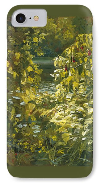 Plein Air - By The Chicopee River IPhone Case by Lucie Bilodeau