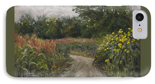 Plein Air - Corn Field IPhone Case by Lucie Bilodeau