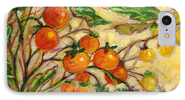 Tomato iPhone 7 Case - Plein Air Garden Series No 15 by Jennifer Lommers