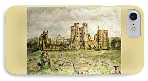 Plein Air Painting At Cowdray House Sussex IPhone Case by Angela Davies
