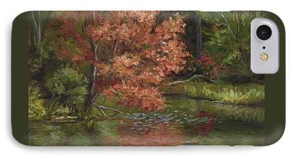 Plein Air - Red Tree IPhone Case by Lucie Bilodeau