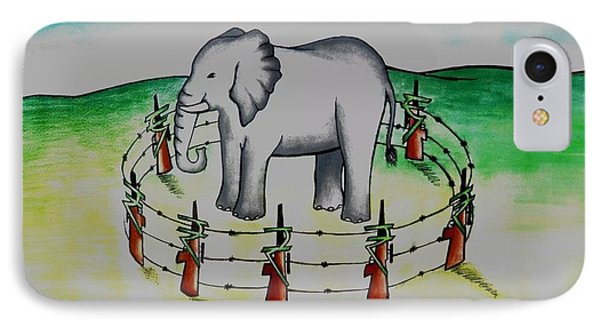 Plight Of Elephants Phone Case by Tanmay Singh