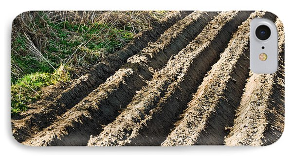 Ploughed Field IPhone Case by Jane McIlroy