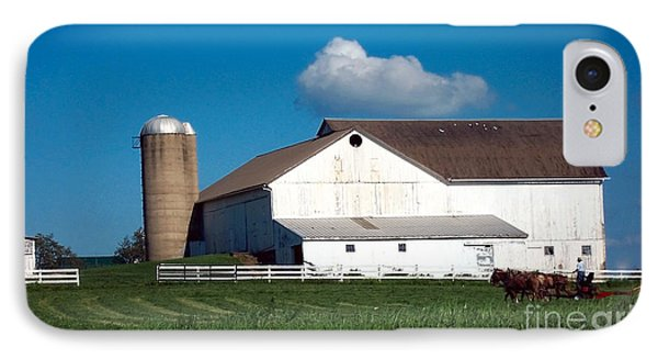IPhone Case featuring the photograph Plowing The Field by Gena Weiser