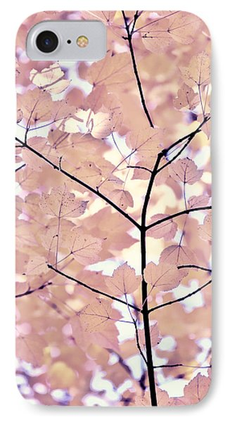 Plum Cream Leaves Melody Phone Case by Jennie Marie Schell