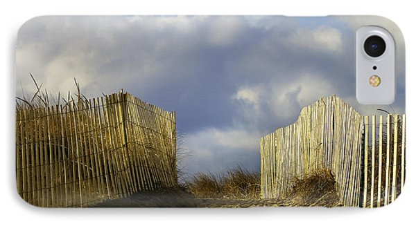 IPhone Case featuring the photograph Plum Island Fence by Betty Denise