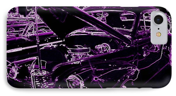 IPhone Case featuring the digital art Plum Perfect by Bobbee Rickard