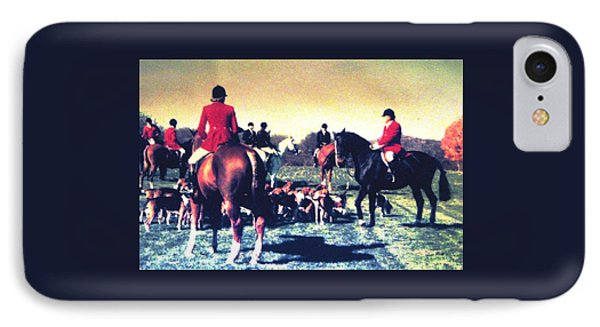 IPhone Case featuring the photograph Plum Run Hunt Opening Day by Angela Davies