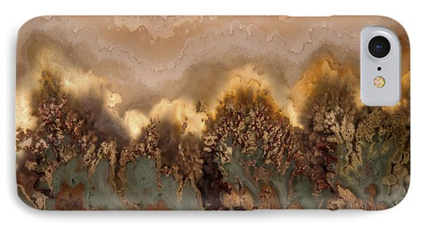 Plume Agate Shape And Form IPhone Case by Leland D Howard