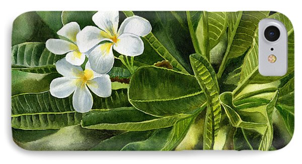Plumeria Leaves IPhone Case by Sharon Freeman