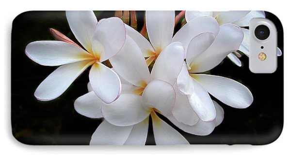 Plumeria Phone Case by Penny Lisowski
