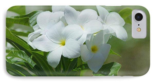 Plumeria - Tropical Flowers Phone Case by Kim Hojnacki