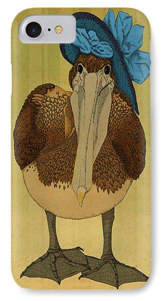 Plumpskin Ploshkin Pelican Jill IPhone Case by Meg Shearer