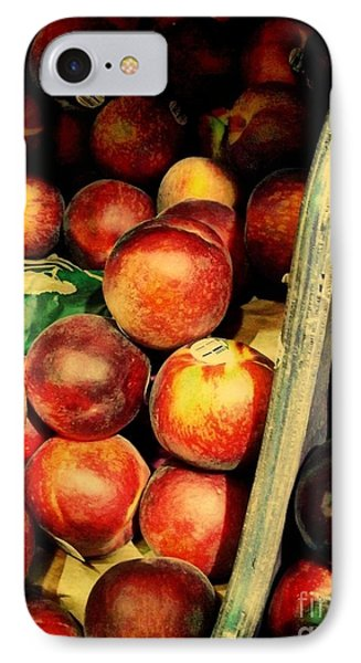 Plums And Nectarines IPhone Case by Miriam Danar