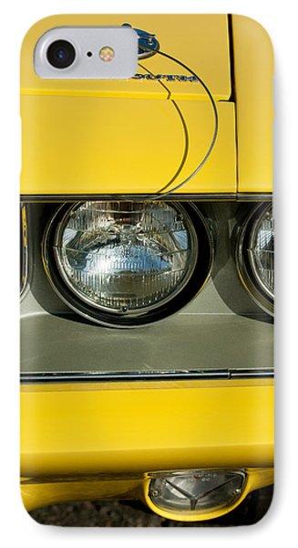 Plymouth Barracuda - Hemi Cuda - Head Lights Emblem IPhone Case