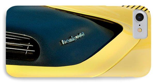Plymouth Barracuda - Hemi Cuda - Hood Emblem IPhone Case